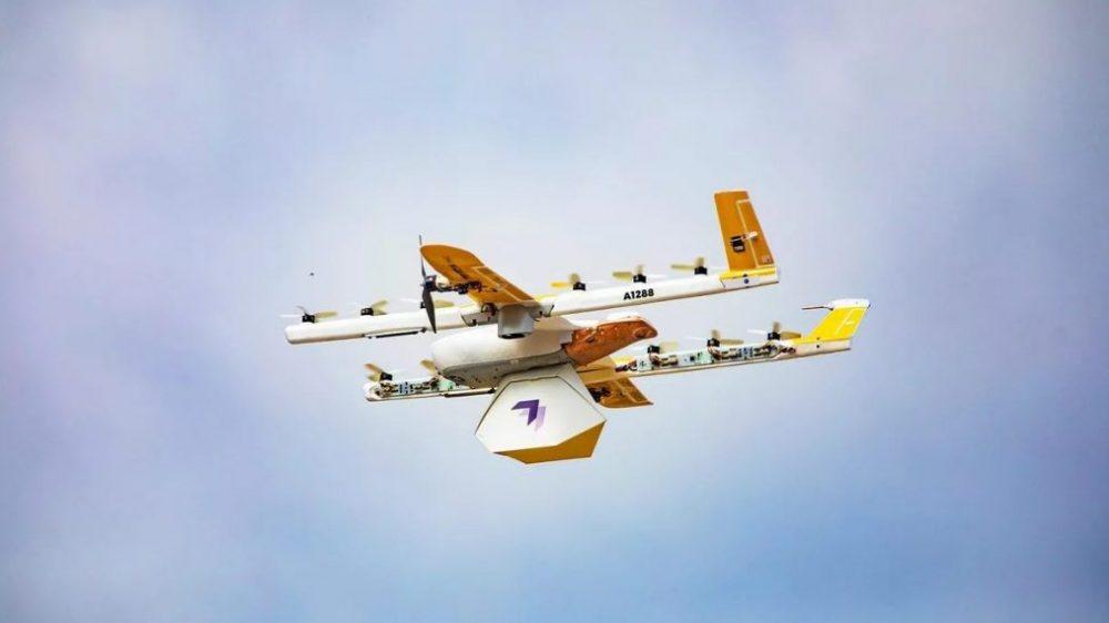 """Wing, el """"dron delivery"""" de Google que reparte medicamentos en la pandemia"""
